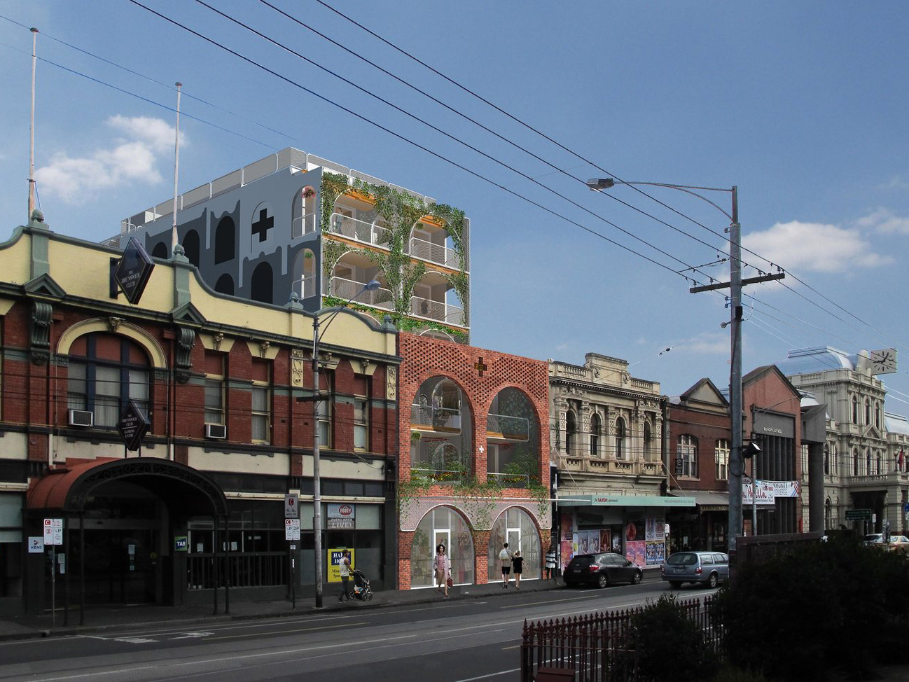 The suburb of Brunswick, located four kilometres north of the Melbourne CBD is experiencing a housing revolution of sorts, with the rise of socially and environmentally responsible housing which prioritises good design outcomes and community building over the bottom line. Image: Supplied