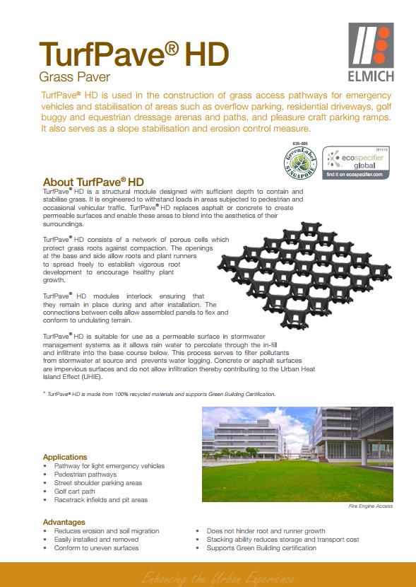 Turfpave 174 Xd Interlocking Plastic Grass Pavers