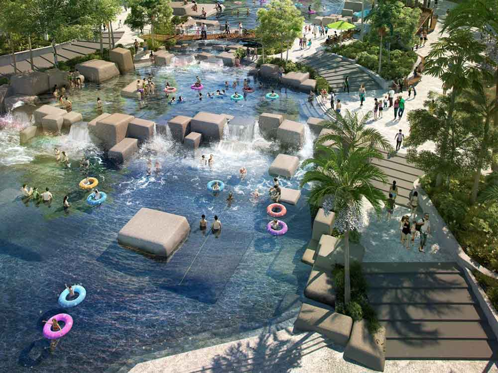 The proposed Brisbane Rock Pools at Victoria Park