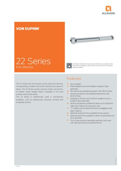 22 Series product brochure
