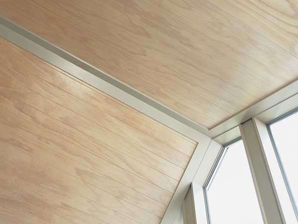 Ecoply Plygroove lining delivers the natural warmth and beauty of wood