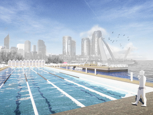 Elizabeth Quay pop up Olympic pool