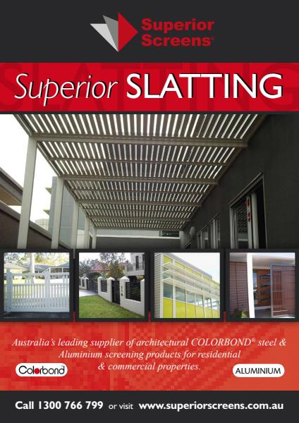 Slatting Brochure with Aluminium