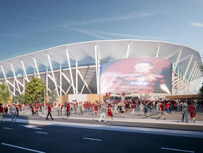 Populous' design for the new Western Sydney Stadium in Parramatta