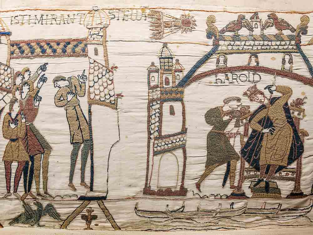 Two scenes from the Bayeux Tapestry