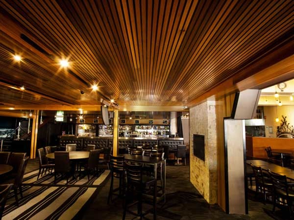 The Screenclad Mocha Two-Tone timber panelling product was specified for Cube Hotel