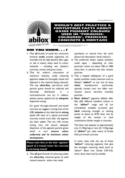 Product Facts about Abilox