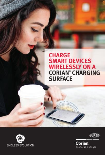 Corian wireless charging surface brochure