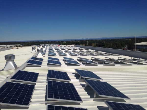 The rooftop solar power system at IKEA Canberra