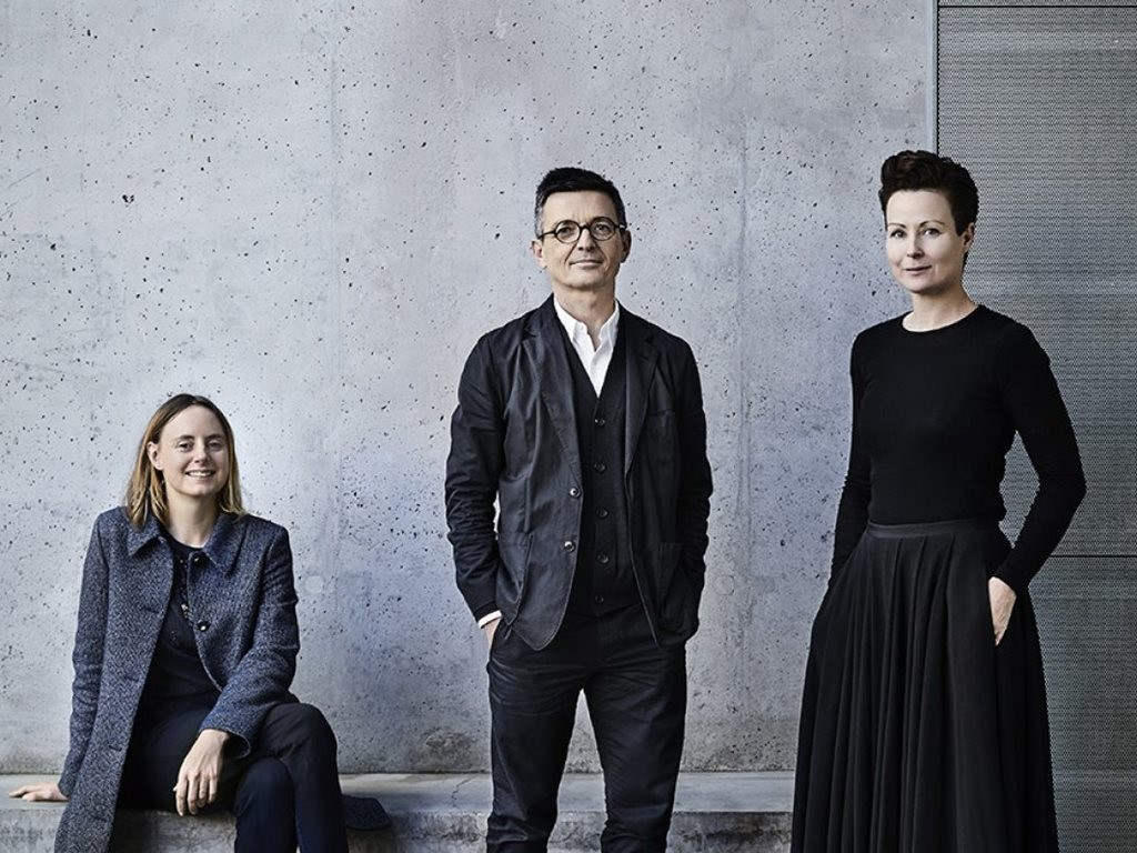 Left to right: artist Linda Tegg with Mauro Baracco and Louise Wright of Baracco+Wright Architects created Australia's winning submission to the 2018 Venice Architecture Biennale. Image: Biennale Architettura