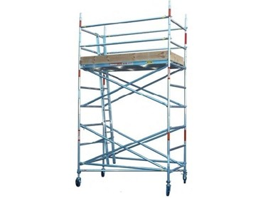 Mobile aluminium scaffold towers available for rental from - Exterior scaffolding rental near me ...