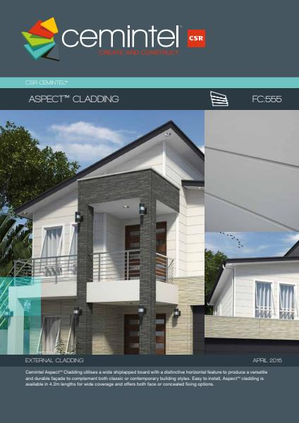 Cemintel Aspect Cladding brochure