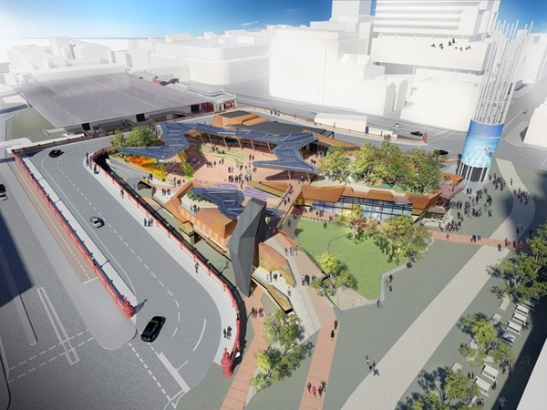 Perth's new civic and cultural hub inspired by Aboriginal leader and