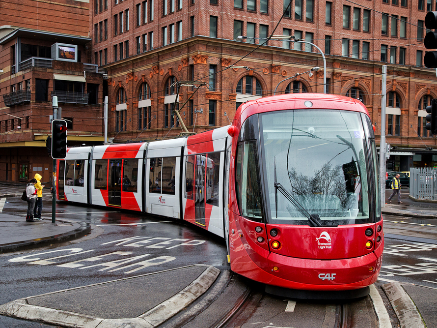Daytime testing has finally begun on the $2.1 billion Sydney Light Rail project. Image: Shutterstock