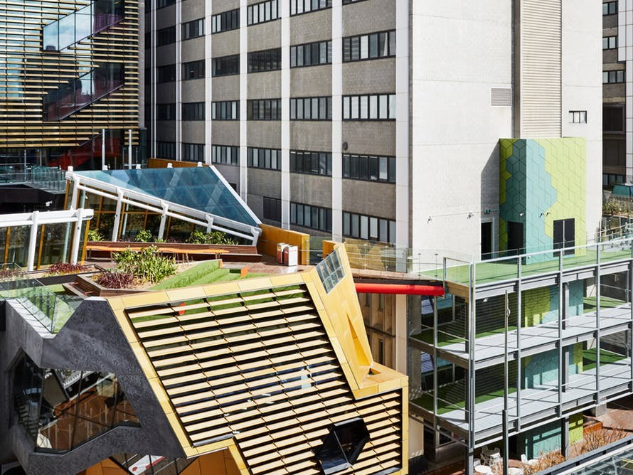 RMIT University transformed the look and function of its city campus as part of its New Academic Street project. Photography by Tess Kelly