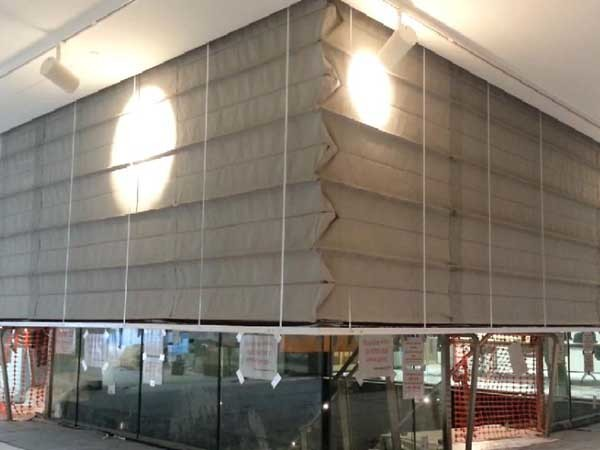 Fibershield S concertina fire curtains