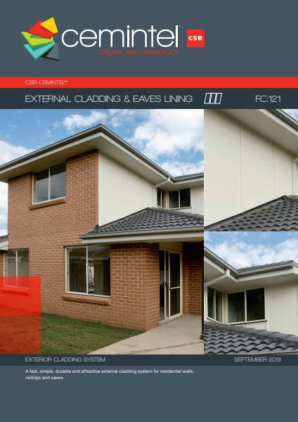 Cemintel External Cladding and Eaves