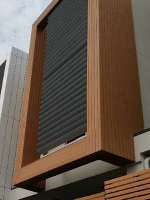 Futurewood composite cladding was used at the Innova townhouse project