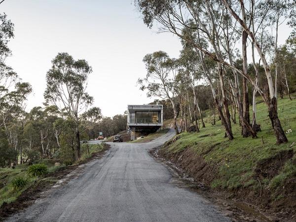 Mt Macedon House driveway
