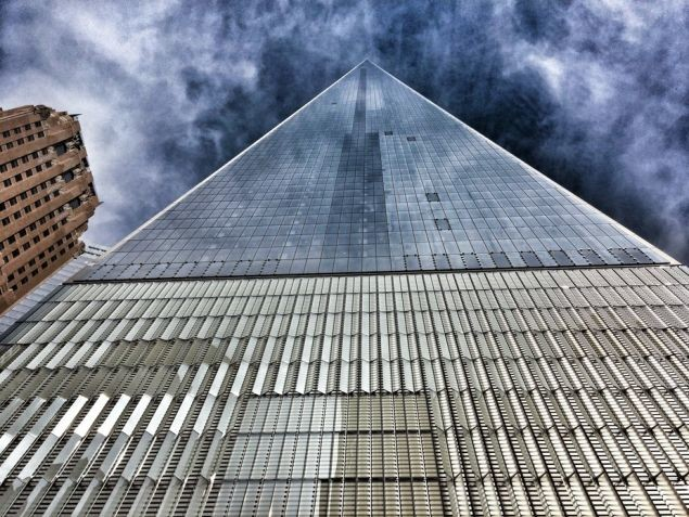 The new One World Trade Center building, made with high-performance concrete. Photography by John D. Morris