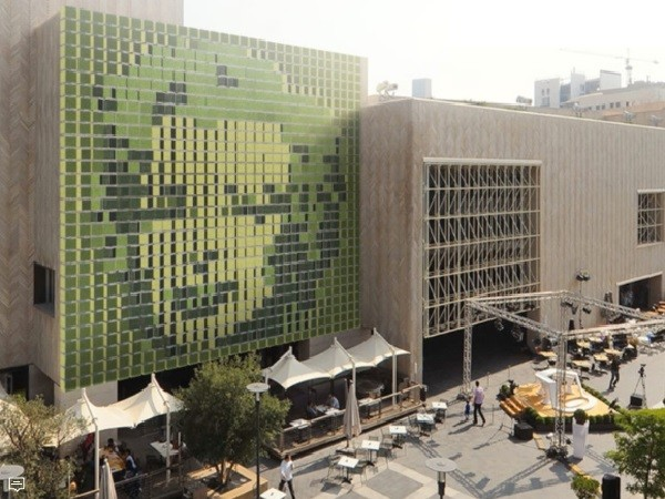 Dynamic Green Art Wall Installation Launched For Building