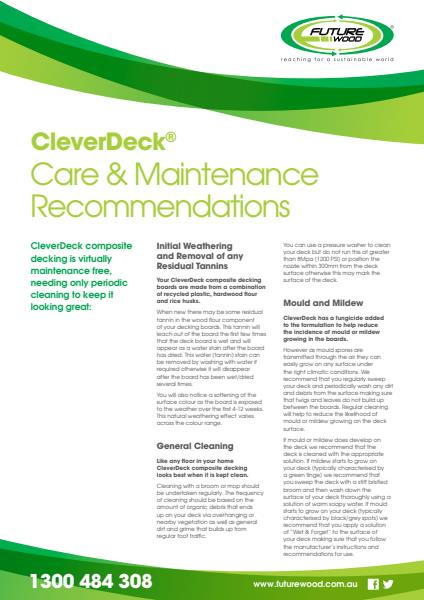 CleverDeck Care Maintenance