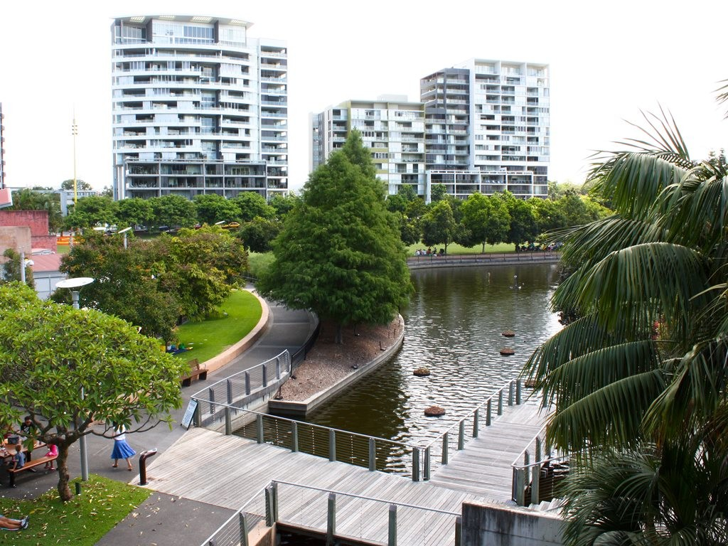 The Roma Street Parkland in Brisbane. Image: WikiMedia Commons