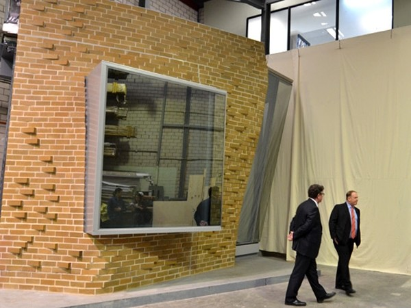 A Scale Prototype Of The Buidingu0027s Brickwork Developed By Façade Contractor  Sharvain. Image: Terry Clinton.