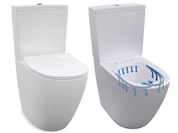 Enware's new rimless toilet suite