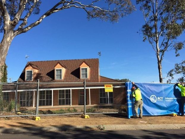 One of the first Mr Fluffy homes to be demolished under the ACT buyback scheme, in Wanniassa. Image: ABC News/Mark Moore