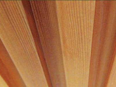 A Western Red Cedar timber ceiling