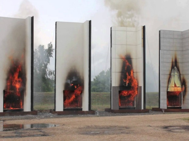 Fire cladding testing. Image: Sourceable
