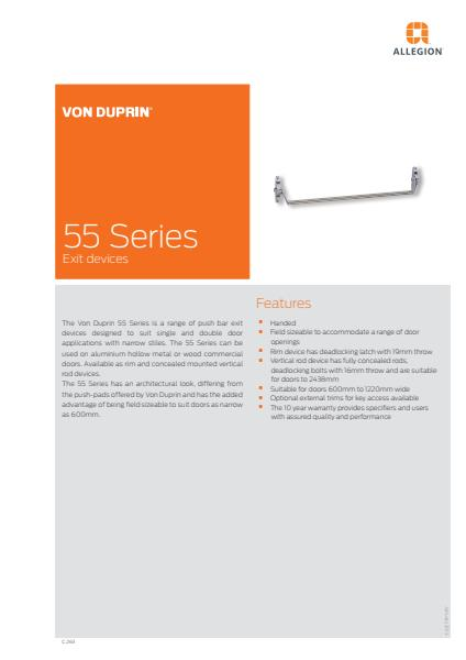 55 Series product brochure