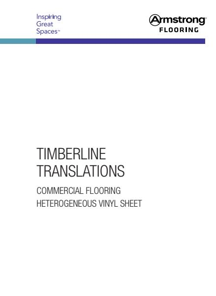 Timberline & Translations vinyl sheet flooring brochure