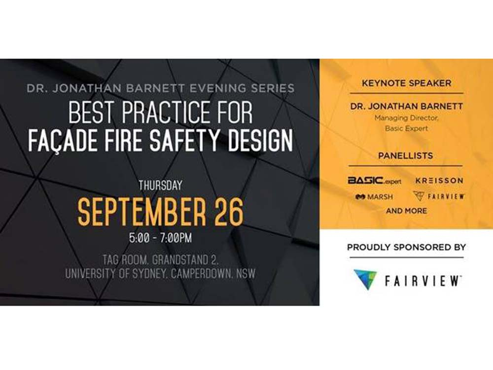 Event on facade fire safety