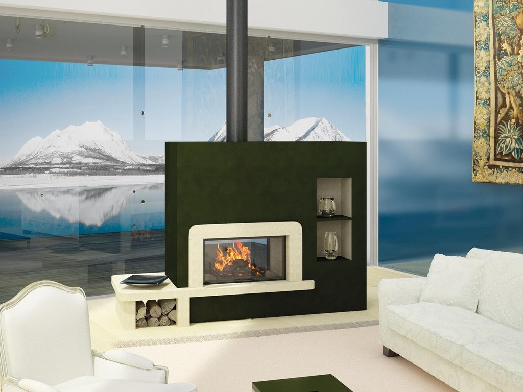 Double Sided Fireplaces An Internal And External European