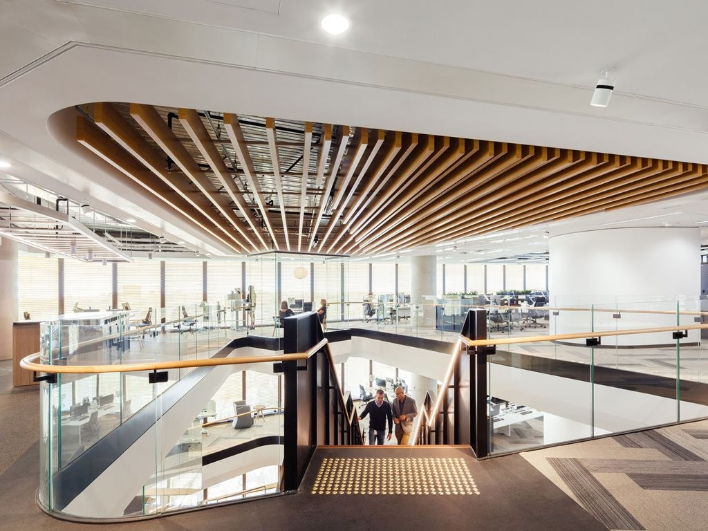 Davenport Campbell recently completed the fitout for Mirvac Headquarters at 200 George Street. Image: Davenport Campbell
