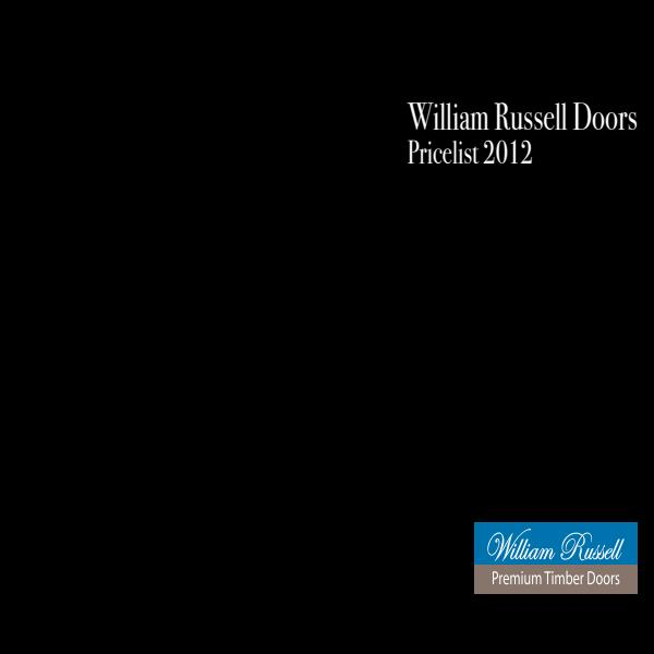 William Russell Doors Pricelist 2012
