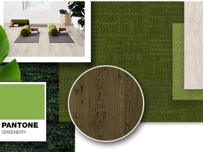 Godfrey Hirst's carpet tiles inspired by Pantone Colour of the Year, Greenery