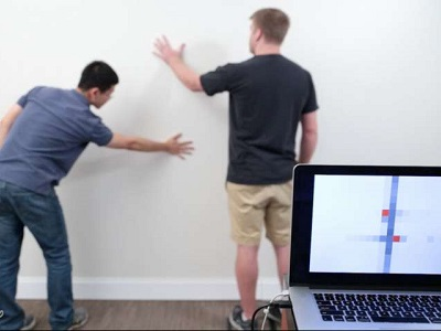 Wall++ technology can turn an entire wall into a touchpad (Credit: Carnegie Mellon University)