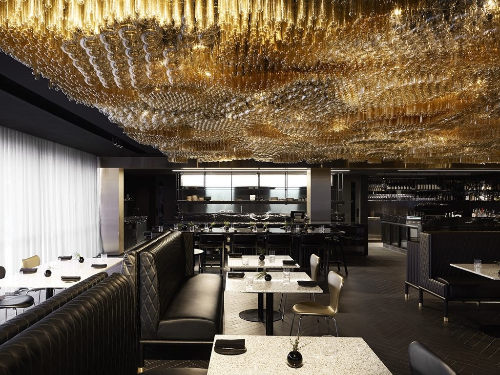 Award winning designer Jan Flook, a graduate of the Florence Design Academy in Italy, is the man behind (or indeed under) the breathtaking Jackelope Hotel Chandelier continues to illuminate the industry on installation lighting. Image: Supplied