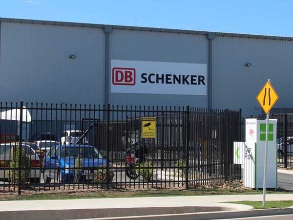 SecuraTop crushed spear security fence at DB Schenker's Brisbane DC