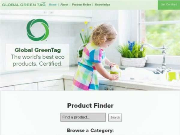 Global Green Tag website