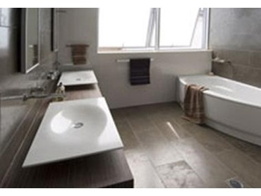 Corian solid surface material perfect for bathroom vanity