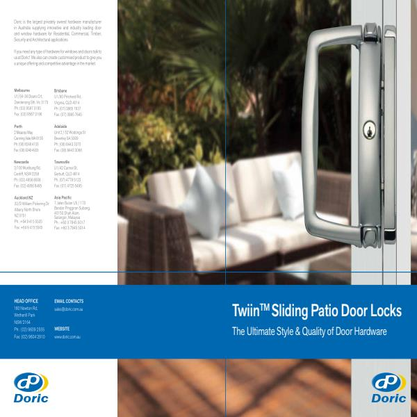 Twiin Sliding Door Brochure