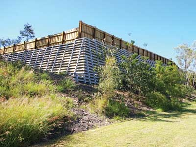 All Concrib retaining wall systems feature code-compliant components