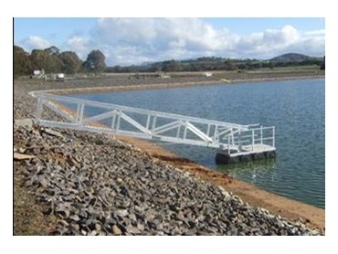Elevated Safety Systems install aluminium floating pontoon at a