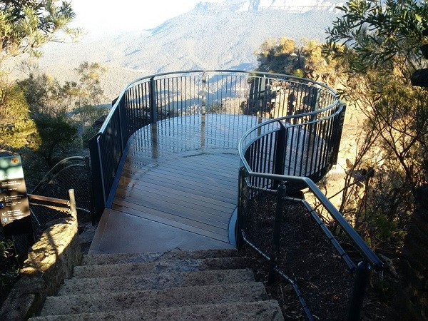 Stainform provided extensive walkway barriers, lookout structures and decking to the upgrade project