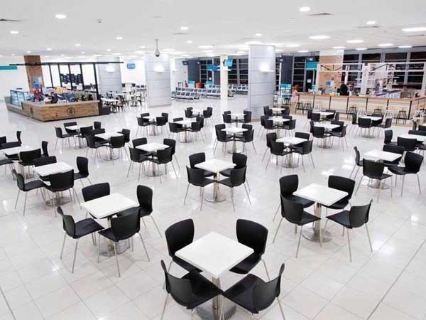 ARDEX products were specified for the tiling throughout the expansion at Newcastle Airport