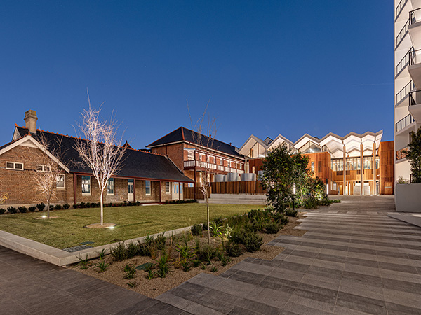 The prominent two-storey Nurses' Quarters which, along with the Main Ward Block, comprises the core of the Lilydale Street face brick buildings, presents as the most recognisable public face of the former hospital.